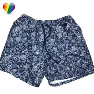 Merona Blue Paisley Swim Board Shorts A170443